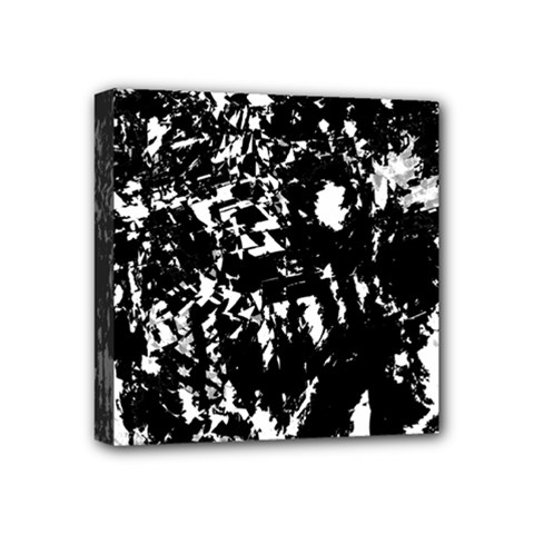 Black And White Miracle Mini Canvas 4  X 4  by Valentinaart