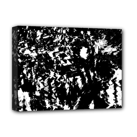 Black And White Miracle Deluxe Canvas 16  X 12   by Valentinaart