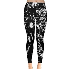 Black And White Miracle Leggings  by Valentinaart