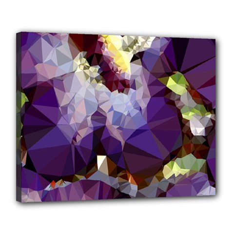 Purple Abstract Geometric Dream Canvas 20  X 16  by DanaeStudio