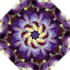Purple Abstract Geometric Dream Folding Umbrellas by DanaeStudio