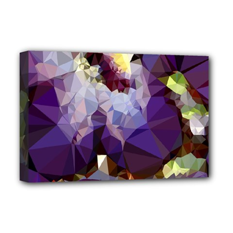 Purple Abstract Geometric Dream Deluxe Canvas 18  X 12   by DanaeStudio