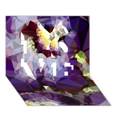 Purple Abstract Geometric Dream Love 3d Greeting Card (7x5) by DanaeStudio