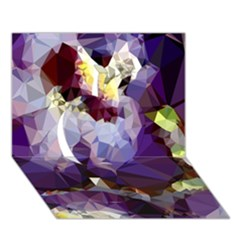 Purple Abstract Geometric Dream Apple 3d Greeting Card (7x5) by DanaeStudio