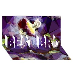 Purple Abstract Geometric Dream Best Bro 3d Greeting Card (8x4) by DanaeStudio
