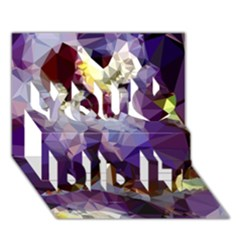 Purple Abstract Geometric Dream You Did It 3d Greeting Card (7x5) by DanaeStudio