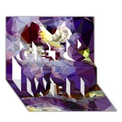 Purple Abstract Geometric Dream Get Well 3d Greeting Card (7x5)