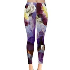 Purple Abstract Geometric Dream Leggings  by DanaeStudio