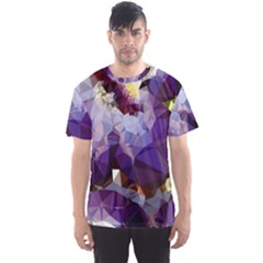 Purple Abstract Geometric Dream Men s Sport Mesh Tee by DanaeStudio