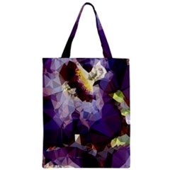 Purple Abstract Geometric Dream Zipper Classic Tote Bag by DanaeStudio