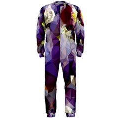 Purple Abstract Geometric Dream Onepiece Jumpsuit (men)  by DanaeStudio