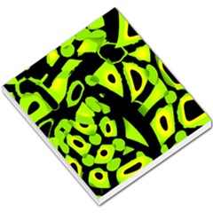 Green Neon Abstraction Small Memo Pads by Valentinaart