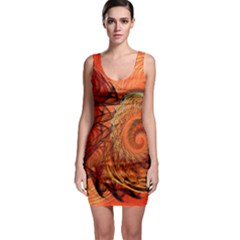 Nautilus Shell Abstract Fractal Sleeveless Bodycon Dress by designworld65