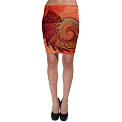 Nautilus Shell Abstract Fractal Bodycon Skirt by designworld65