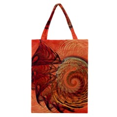 Nautilus Shell Abstract Fractal Classic Tote Bag by designworld65