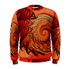 Nautilus Shell Abstract Fractal Men s Sweatshirt by designworld65