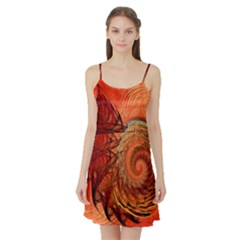 Nautilus Shell Abstract Fractal Satin Night Slip by designworld65