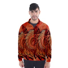 Nautilus Shell Abstract Fractal Wind Breaker (men)
