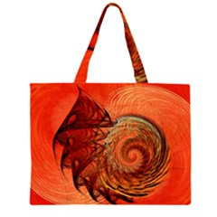 Nautilus Shell Abstract Fractal Zipper Large Tote Bag by designworld65