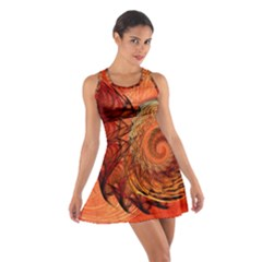 Nautilus Shell Abstract Fractal Cotton Racerback Dress by designworld65