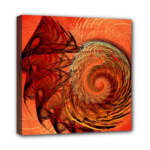 Nautilus Shell Abstract Fractal Mini Canvas 8  X 8  by designworld65