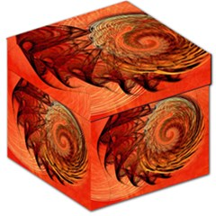 Nautilus Shell Abstract Fractal Storage Stool 12   by designworld65