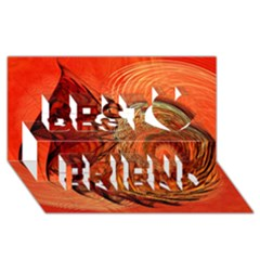 Nautilus Shell Abstract Fractal Best Friends 3d Greeting Card (8x4) by designworld65