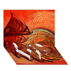 Nautilus Shell Abstract Fractal Love Bottom 3d Greeting Card (7x5) by designworld65