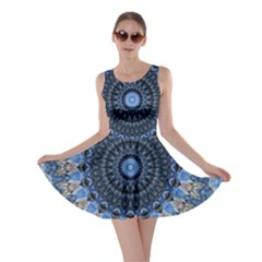 Feel Blue Mandala Skater Dress by designworld65