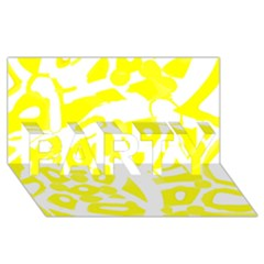 Yellow Sunny Design Party 3d Greeting Card (8x4) by Valentinaart