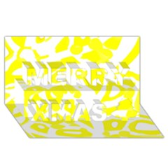 Yellow Sunny Design Merry Xmas 3d Greeting Card (8x4) by Valentinaart