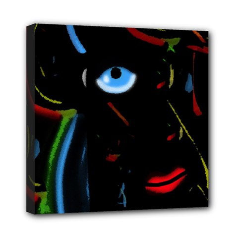 Black Magic Woman Mini Canvas 8  X 8  by Valentinaart