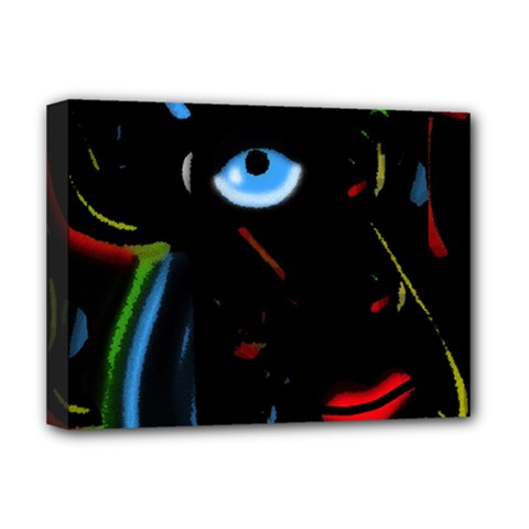 Black Magic Woman Deluxe Canvas 16  X 12   by Valentinaart