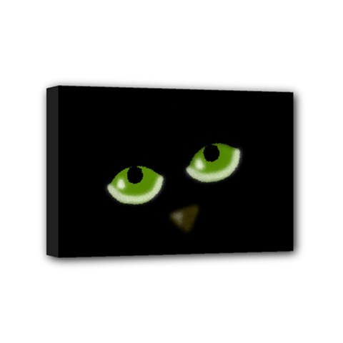 Halloween   Back Cat Mini Canvas 6  X 4  by Valentinaart