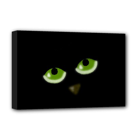 Halloween   Back Cat Deluxe Canvas 18  X 12   by Valentinaart