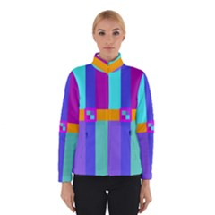 Right Angle Squares Stripes Cross Colored Winterwear by EDDArt