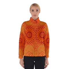 Lotus Fractal Flower Orange Yellow Winterwear by EDDArt