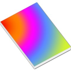 Radial Gradients Red Orange Pink Blue Green Large Memo Pads by EDDArt