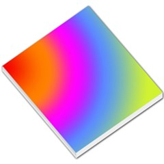 Radial Gradients Red Orange Pink Blue Green Small Memo Pads by EDDArt