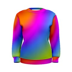 Radial Gradients Red Orange Pink Blue Green Women s Sweatshirt