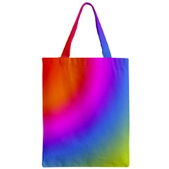 Radial Gradients Red Orange Pink Blue Green Zipper Classic Tote Bag by EDDArt