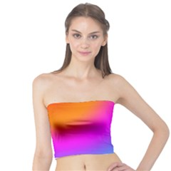 Radial Gradients Red Orange Pink Blue Green Tube Top by EDDArt