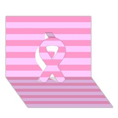 Fabric Baby Pink Shades Pale Ribbon 3d Greeting Card (7x5)