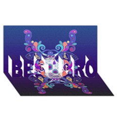 Día De Los Muertos Skull Ornaments Multicolored Best Bro 3d Greeting Card (8x4) by EDDArt