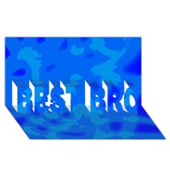Simple Blue Best Bro 3d Greeting Card (8x4) by Valentinaart