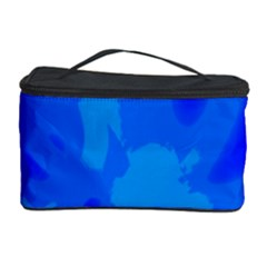 Simple Blue Cosmetic Storage Case