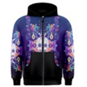 Día De Los Muertos Skull Ornaments multicolored Men s Zipper Hoodie View1