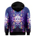 Día De Los Muertos Skull Ornaments multicolored Men s Zipper Hoodie View2