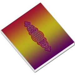 Flower Of Life Vintage Gold Ornaments Red Purple Olive Small Memo Pads by EDDArt