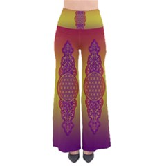 Flower Of Life Vintage Gold Ornaments Red Purple Olive Pants by EDDArt